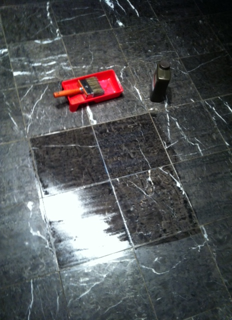 how to make your marble floors shine