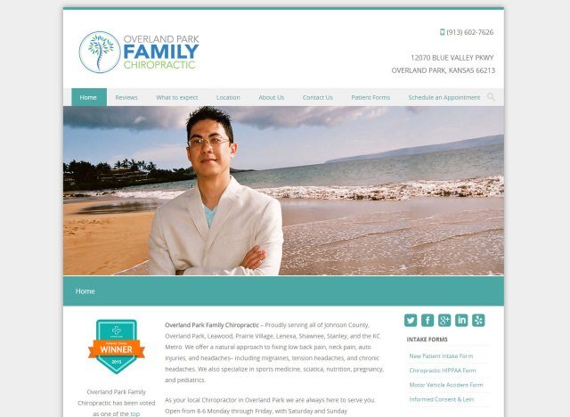 Overland Park Family Chiropractic Website design