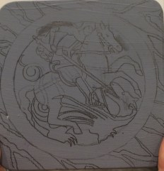 Drawing out St George and the Dragon