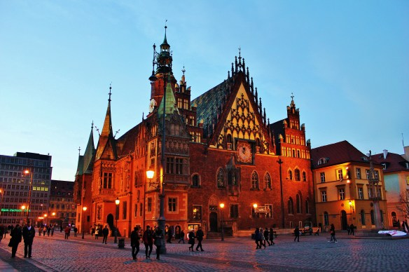 Wrocław Town Hall backpacking poland