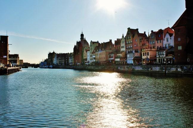 riverside in Gdańsk Romance in Gdańsk