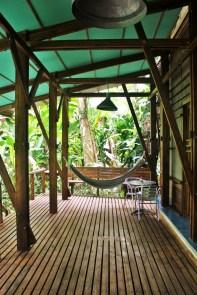 2 Outside on the eco-design decking at La Kukula ecolodge - Charlie on Travel