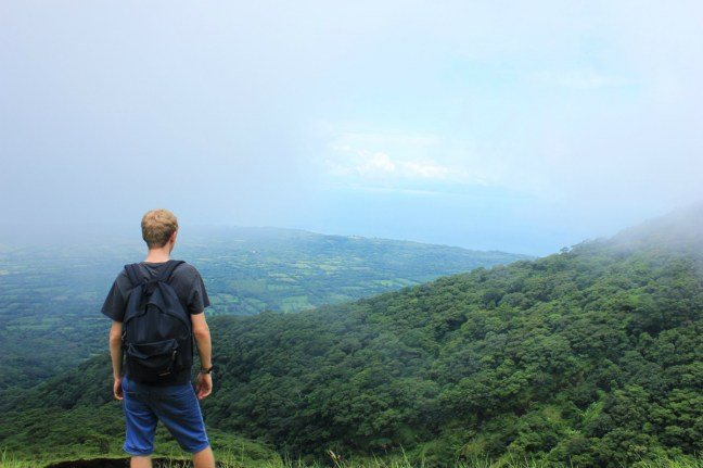 Luke climbing Volcano Concepcion Ometepe Island - Charlie on Travel