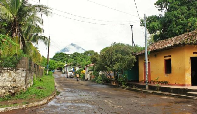 Ometepe Island street in Nicaragua - Charlie on Travel