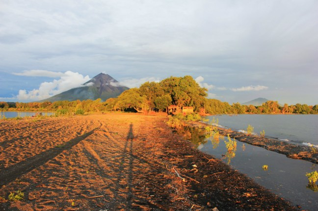 Yellow sunset at Punta Jesus Maria Ometepe Island - Charlie on Travel