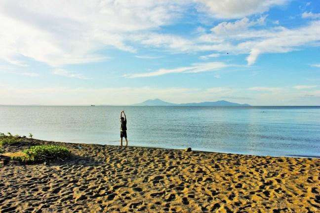 Luke pleased to be on Ometepe Island Nicaragua - Charlie on Travel