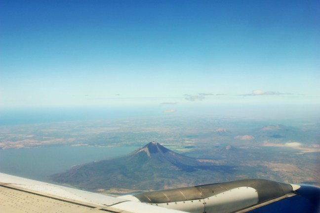 Flying out of Nicaragua