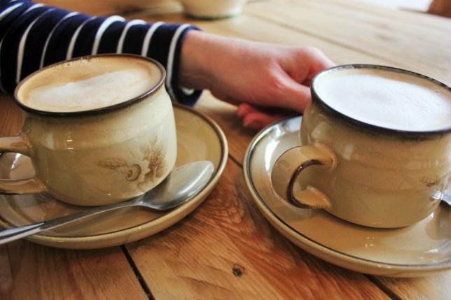Almond milk lattes