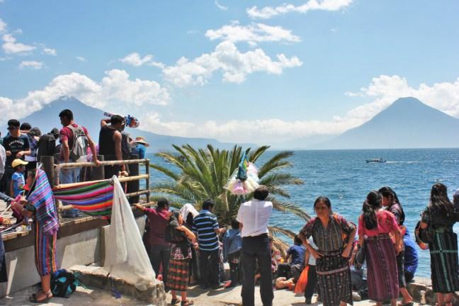 Busy in Panajachel lake atitlan guatemala - Charlie on Travel