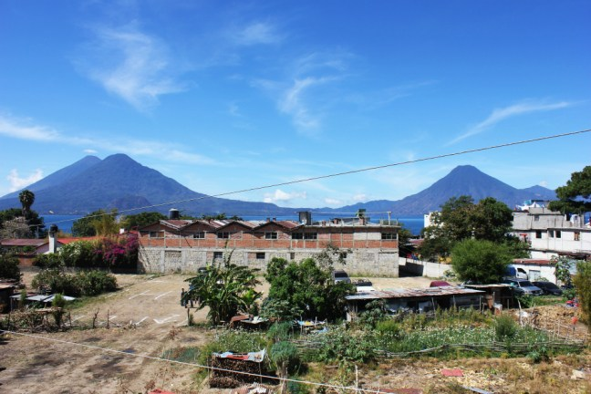 Lake Atitlan View from Hotel Roof Panajachel - Charlie on Travel