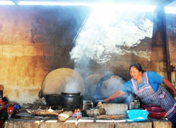 Guatemalan cooking class vegetarian pepian - wife cooking 1 - charlie on travel