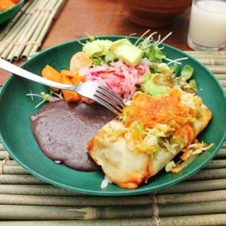 Vegetarian chuchitos for breakfast