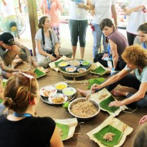 Learning to make traditional style food parcels