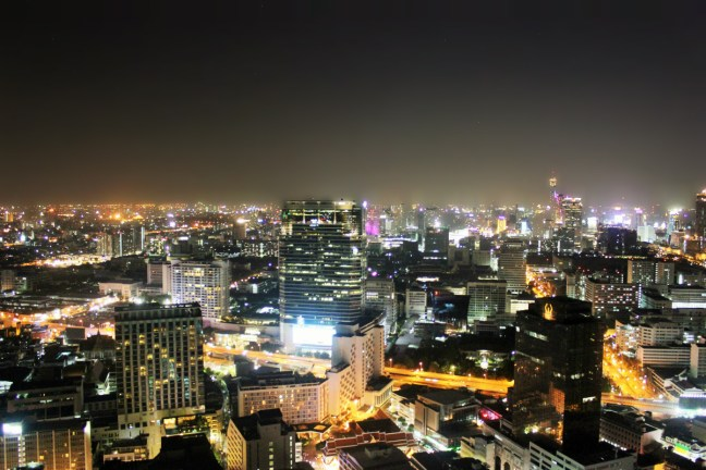 Bangkok skyline at night from sky bar cloud 49 thailand - charlie on travel 1200a