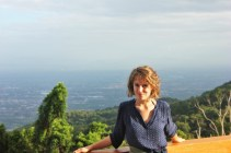 Charlie at temple overlooking chiang mai thailand - charlie on travel