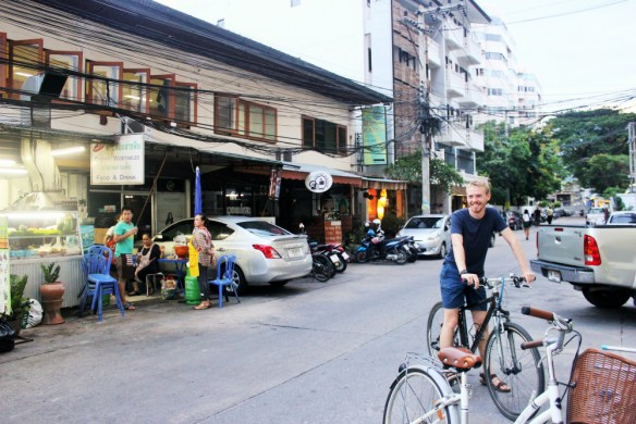 Cycling in Chiang Mai - cost to travel Thailand - Charlie on Travel