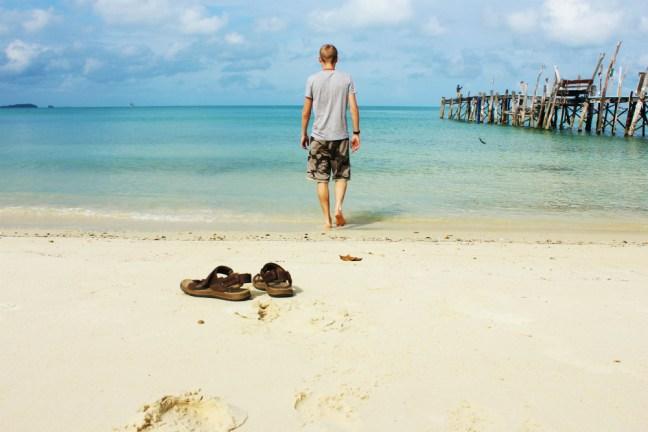 Luke and merrell sandals koh samet  - Charlie on Travel