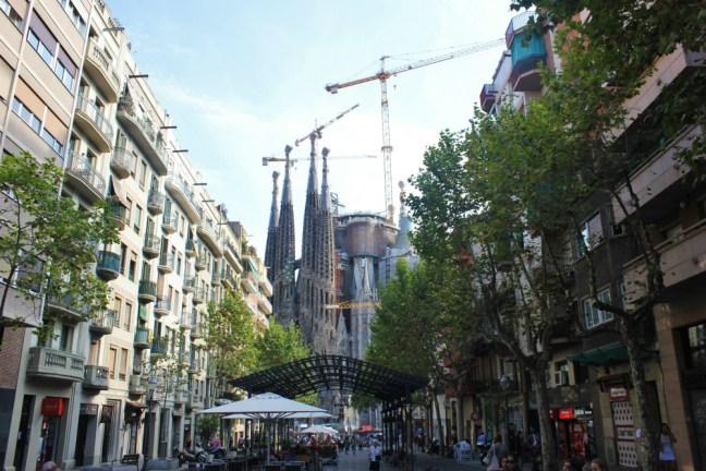 Barcelona Sagrada Familia street view