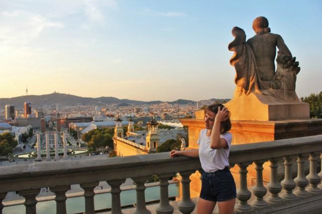 Charlie in Barcelona sunset - Charlie on Travel