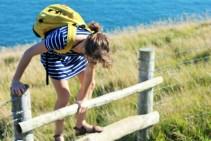 Charlie birthday - climb that wall - Dancing Ledge Dorset