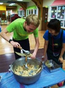 Making zongzi for Dragon Boat festival