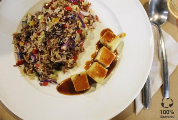 Wild rice and tofu