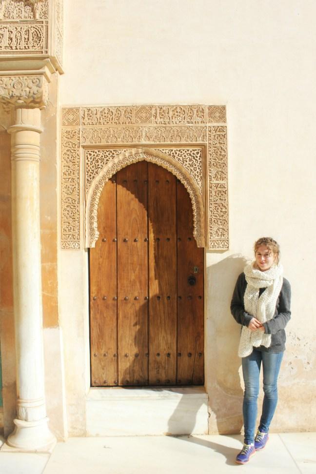 Charlie standing at door Alhambra Granada Spain - Charlie on Travel 1200