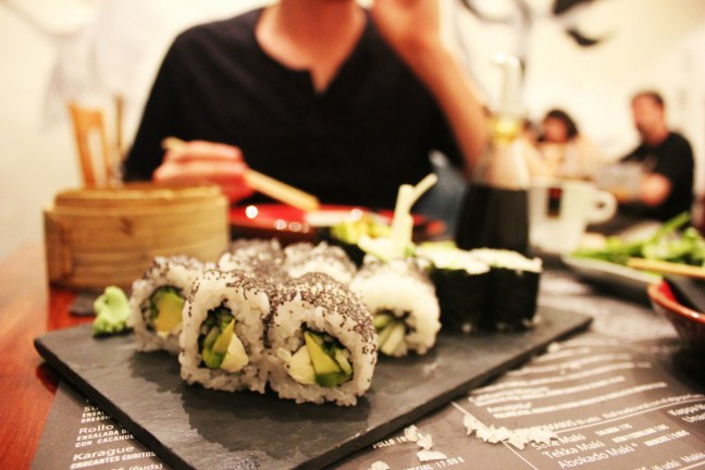 Doble Zeroo vegetarian sushi - Best Vegetarian Restaurants in Barcelona - Charlie on Travel