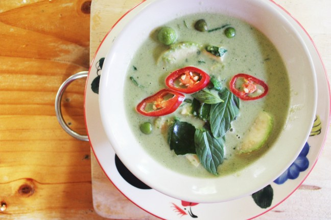 Green Thai Curry at Thai Farm Cooking Class in Chiang Mai - Charlie on Travel