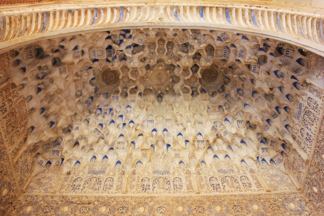 Muqarnas honeycomb vaulting in Alhambra Granada Spain - Charlie on Travel