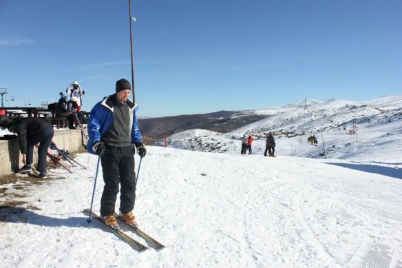 Luke skiing in Mavrovo Macedonia - Charlie on Travel