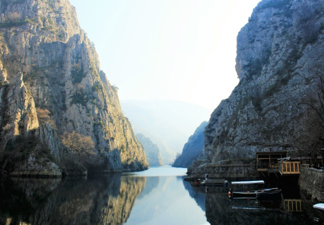 Start of Matka canyon Macedonia - Charlie on Travel