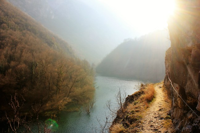 Sunlight in Matka canyon Macedonia - Charlie on Travel