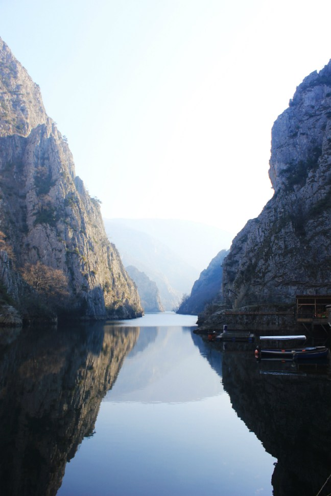 Vertical Matka canyon Macedonia - Charlie on Travel
