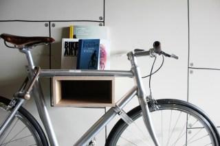 25hours Bikini Berlin Review - bike on the wall - Charlie on Travel