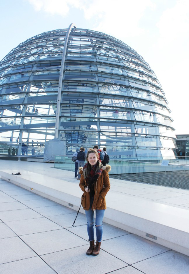 Outside the Dome at Berlin's Reichstag, the world's greenest parliament building