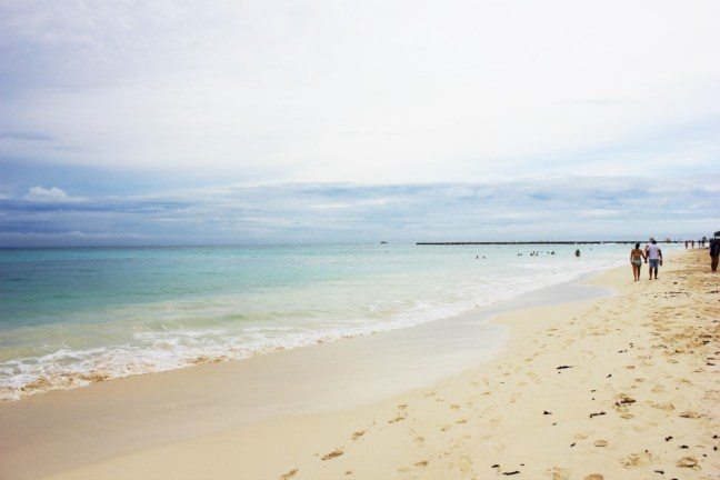 Beach in Playa del Carmen Mexico - Charlie on Travel