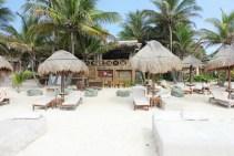 Beach-front resort in Tulum