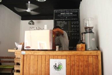Coffee being brewed