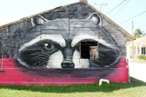 Badger mural - Isla Holbox Mexico - Charlie on Travel