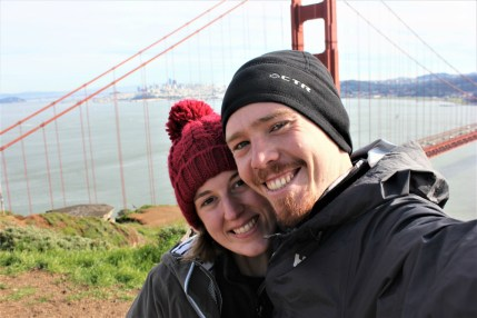 Starting our hike at the Golden Gate Bridge