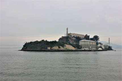 Alcatraz prison from the boat