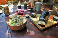 Mazunte Oaxaca Mexico vegetarian sushi - Charlie on Travel