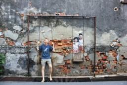 Luke in Penang swing street art s