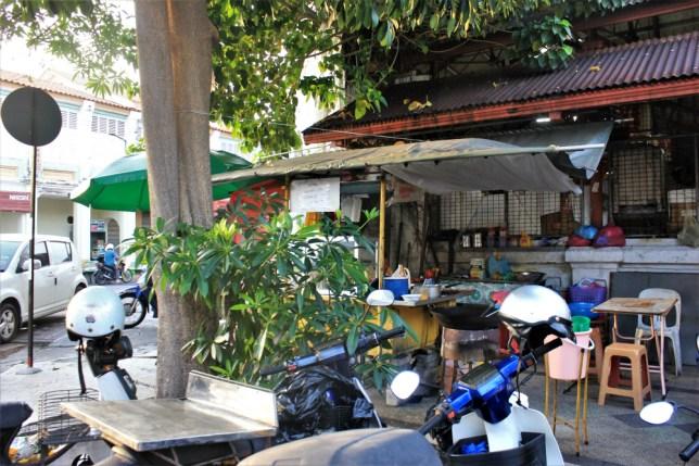 Street food stalls in George Town