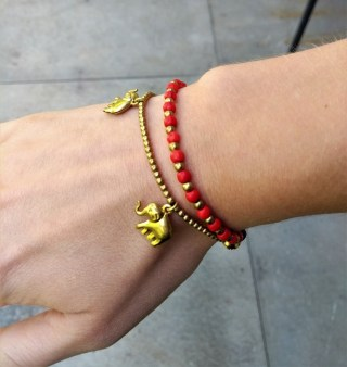 Luke gets me a red bracelet every Christmas. I'm not sure why.
