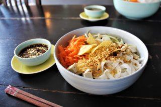 Vegan noodle salad bowl
