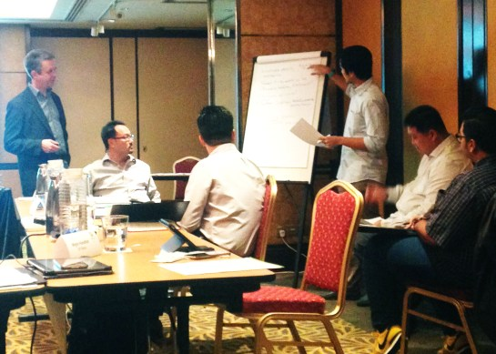Charlie Pownall crisis response workshop - Singapore, 2014