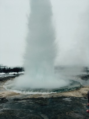 Strokkur erupting!