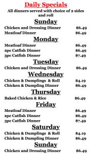 Charlie's Chicken Joplin Menu